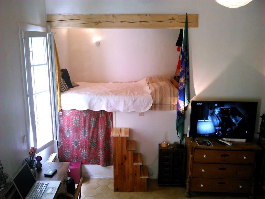 ici, vous dormez dans une alcôve