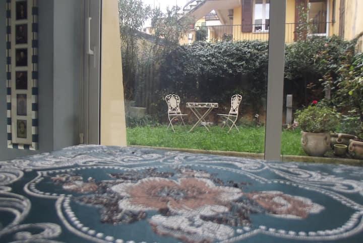 loft con giardino in pieno centro a Bologna