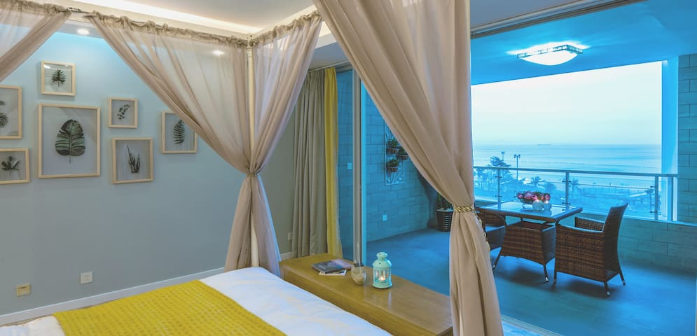 大梅沙一线全海景浪漫大床套房,海滩旁,近东部华侨城 - Shenzhen - Apartamento