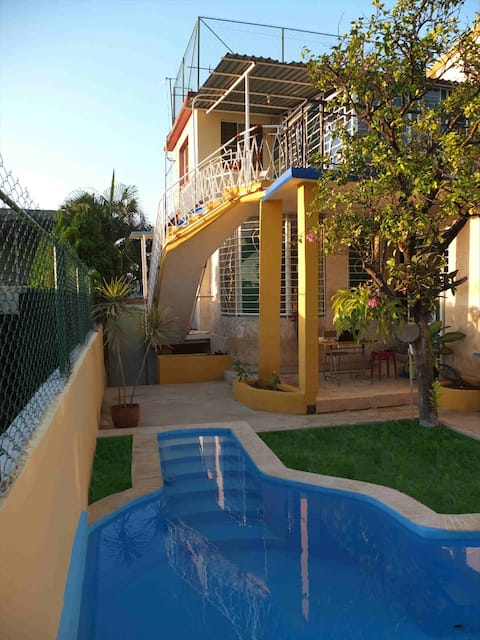 Our villa has two independent floors and a nice swimming pool.
