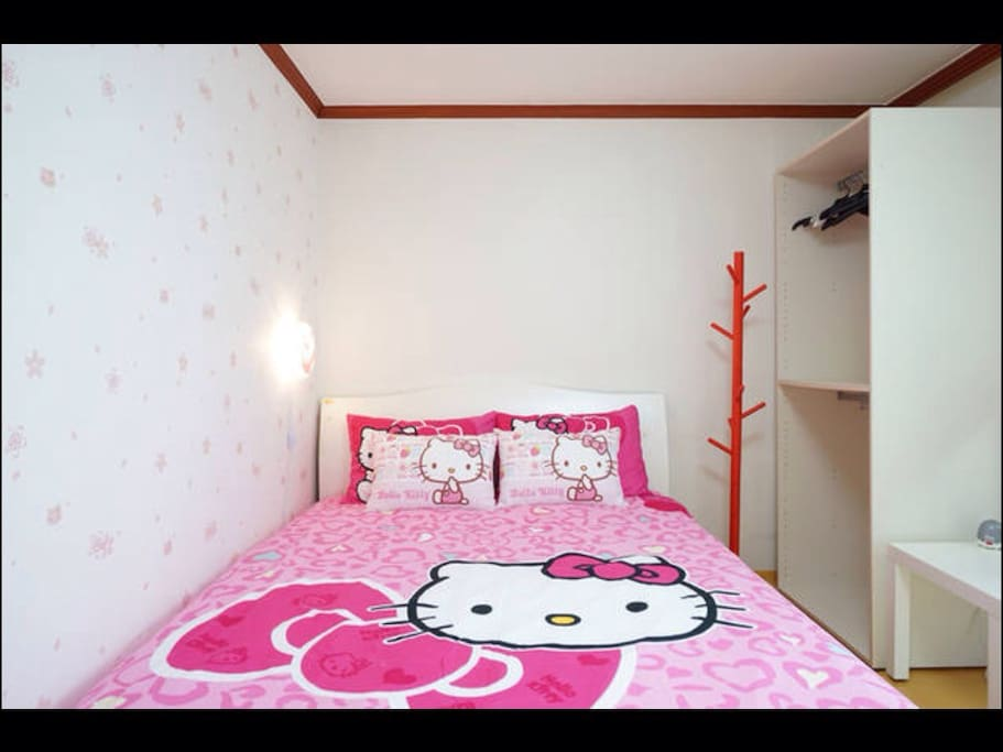 1st room in 2nd floor. with queen size bed and sofa, air-conditioner.