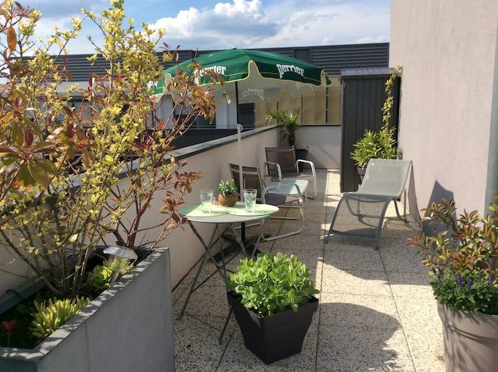 Le 7°Ciel, superbe rooftop privé avec terrasse