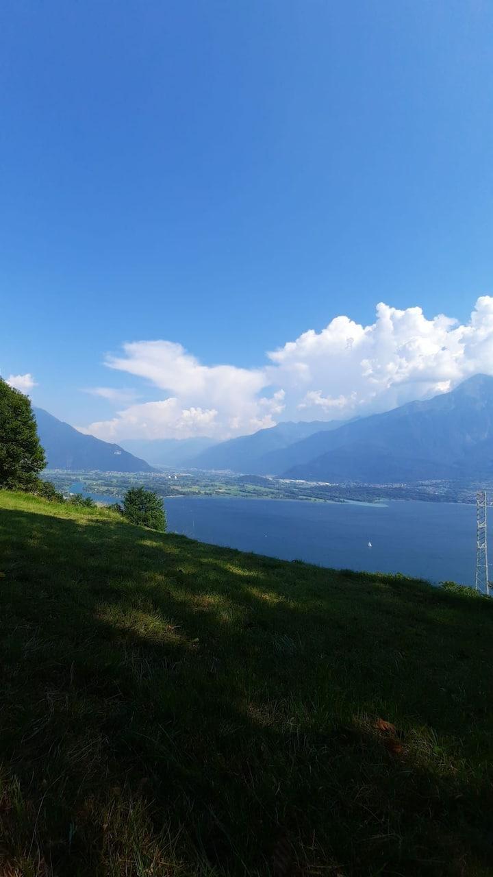 Klosterzelle,Rückzug, Stille in Aurogna, Comer See