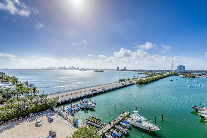 Miami's bayfront one-bedroom condo