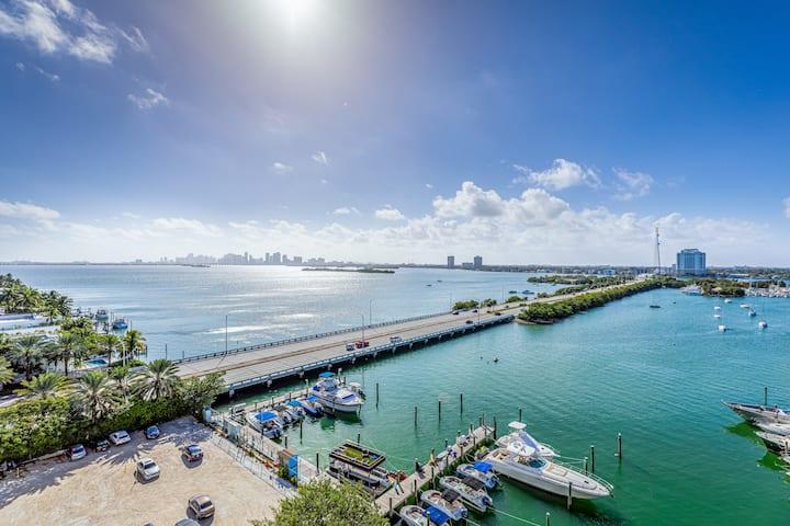 Miami's bayfront one-bedroom condo