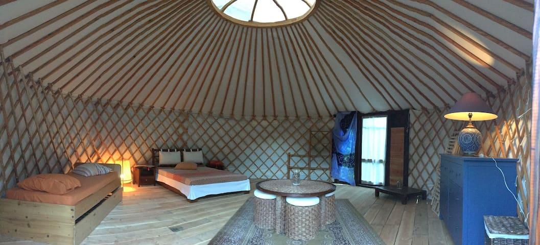 Yourte : splendide chambre insolite et spacieuse