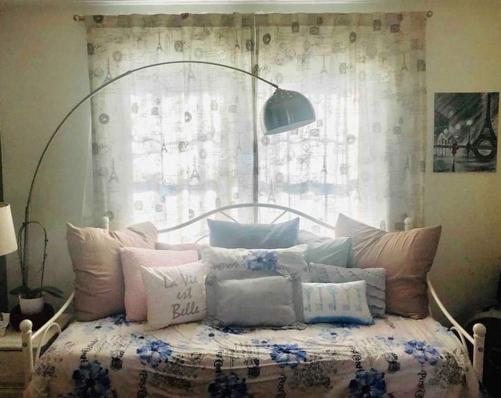 Blue Parisian Room