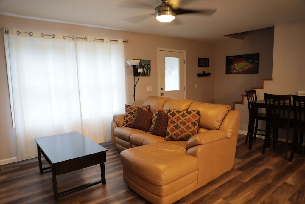 newly updated furniture will be different than this photo - just replaced with new furniture including entertainment system and electric fireplace