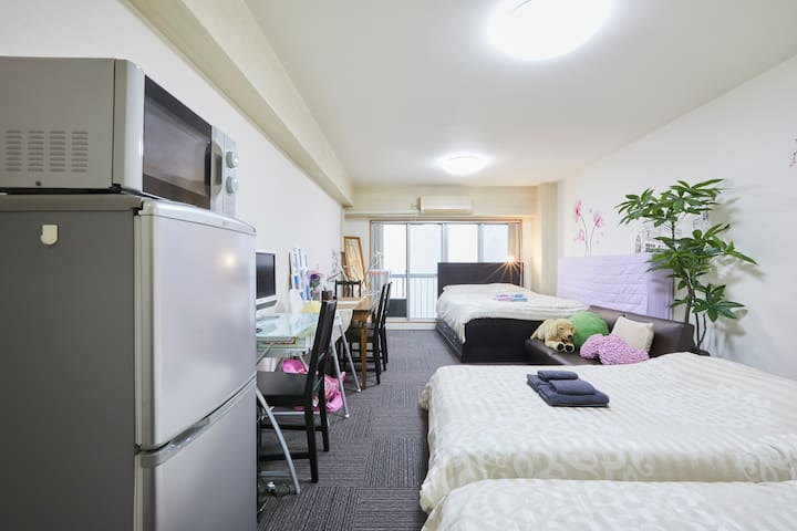 EarlyCheck-in/3minStation/FamilyBaby/FreeWiFi/8ppl - 新宿区 - Flat