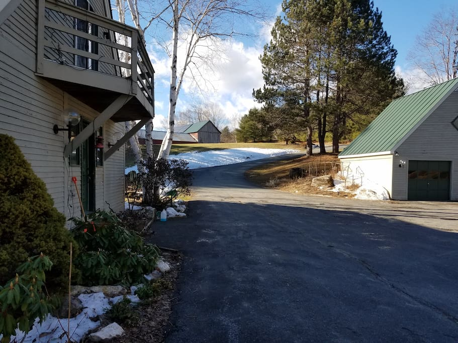 Paved driveway and plenty of parking.