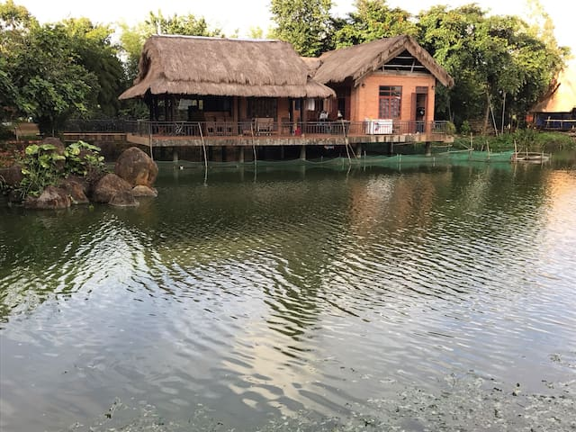 Nguyễn Thanh's Orchid Pond Homestay - Đắk Mil - Rumah