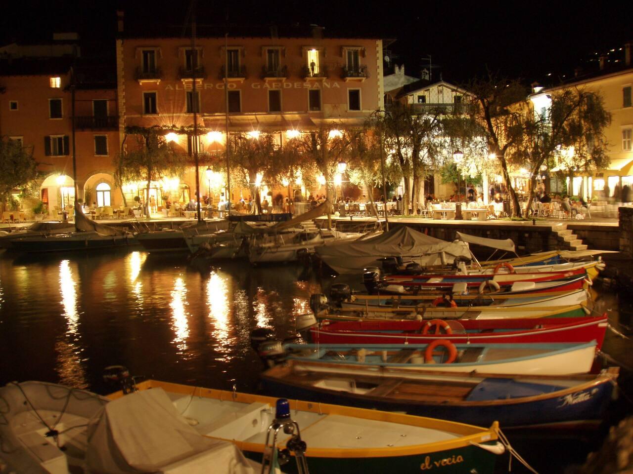 Torri del Benaco and its small harbor