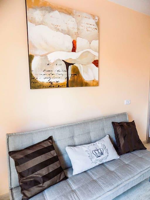 Cómodo sofá cama, Corralejo