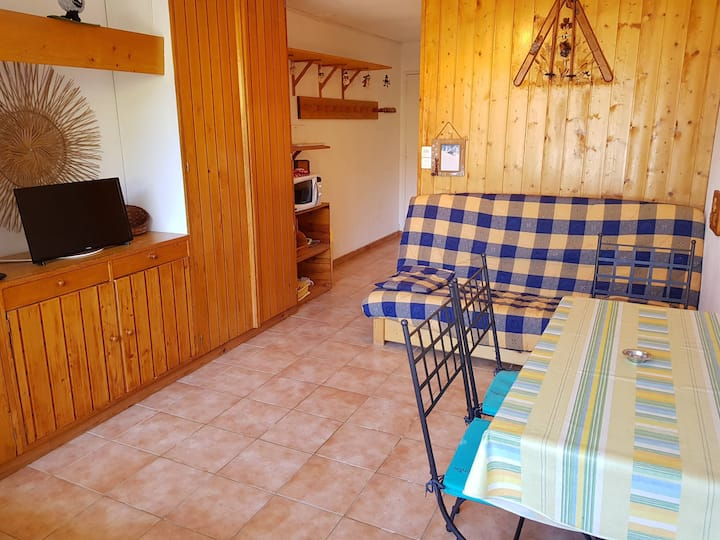 Studio for 2 persons in Arc 1600 close to shops and slopes