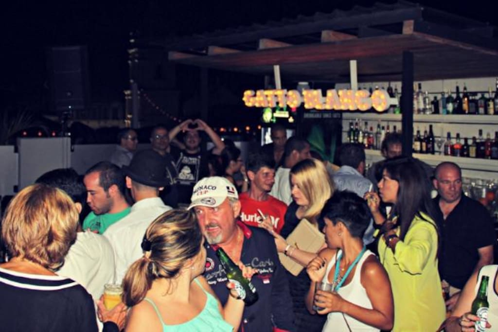we love to party on our rooftop bar