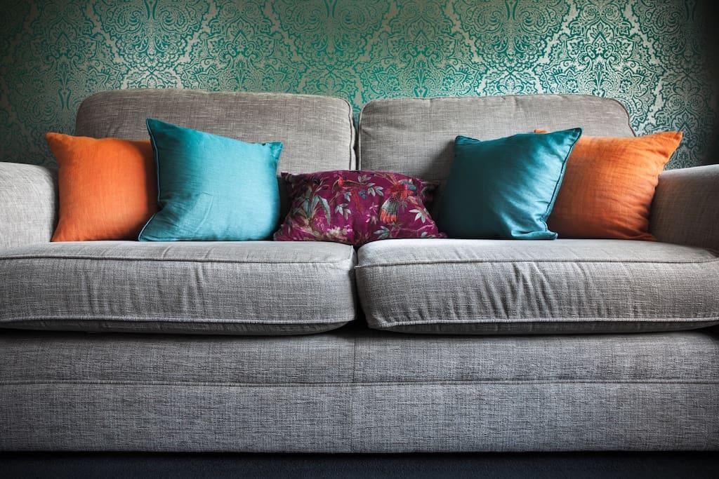 Comfy sofa.