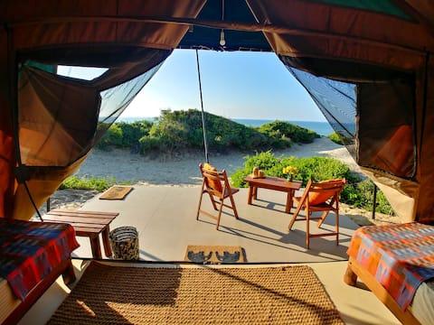 Rústico luxo à beira-mar Eco-Camping em Yala