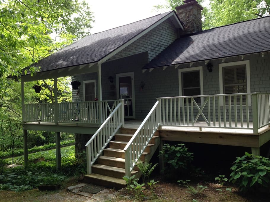 private entrance and deck
