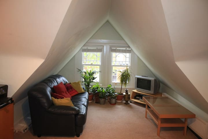 Huge attic room, 7 mins from underground