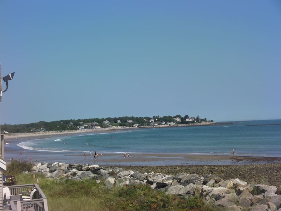 Your 180 degree view from the deck! Privately situated, yet steps away from the gorgeous sands of Plaice Cove Beach
