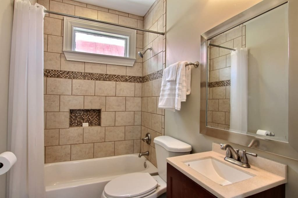 Brand new tile showers in both bathrooms!