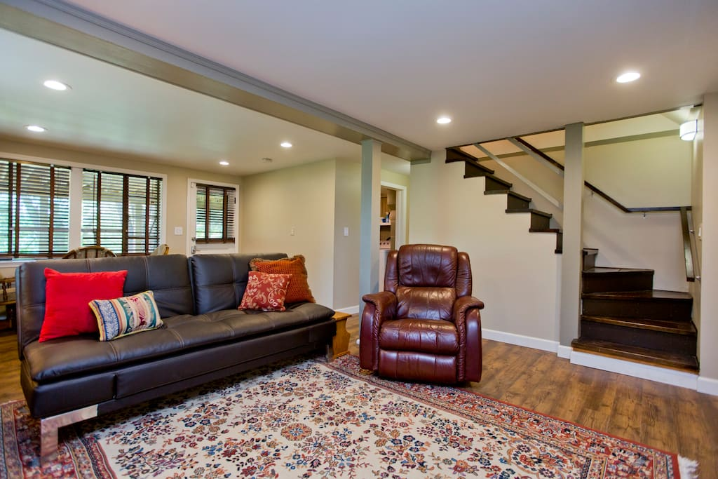 The downstairs apartment offers some more privacy to guests.