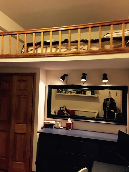Lofted double bed