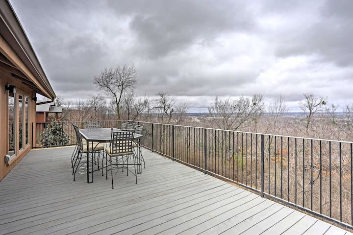 The 900-square-foot deck offers a stunning view of northwest Fayetteville.