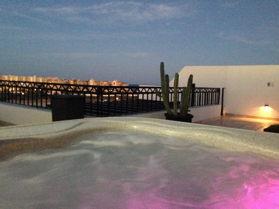 Sip margaritas in your private roof top hot tub.  How about a sunset massage on the rooftop? Our private concierge  can accommodate   you!