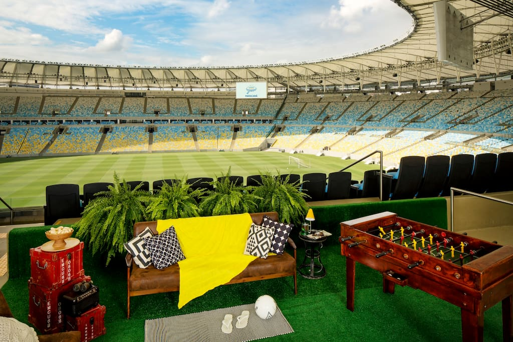 Your own VIP terrace with an exclusive midfield view of the entire stadium