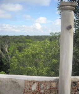 Mayan village, Yucatan, Mexico - Valladolid - Haus