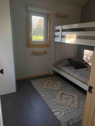 Bedroom 2: twin bunk beds
