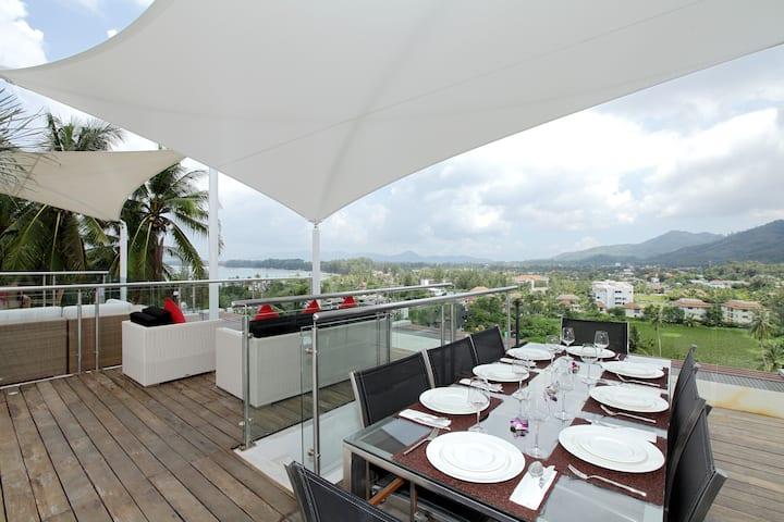 2 BR Penthouse, 5 min to Surin & Bangtao Beach