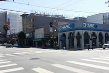 City's famous El Techo de Lolinda & Foreign cinema within one block. Wells Fargo, Chase, US Bank and BOA all available within 2 blocks