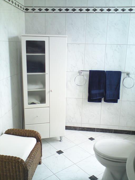 Other side of bathroom - opposite bath tub