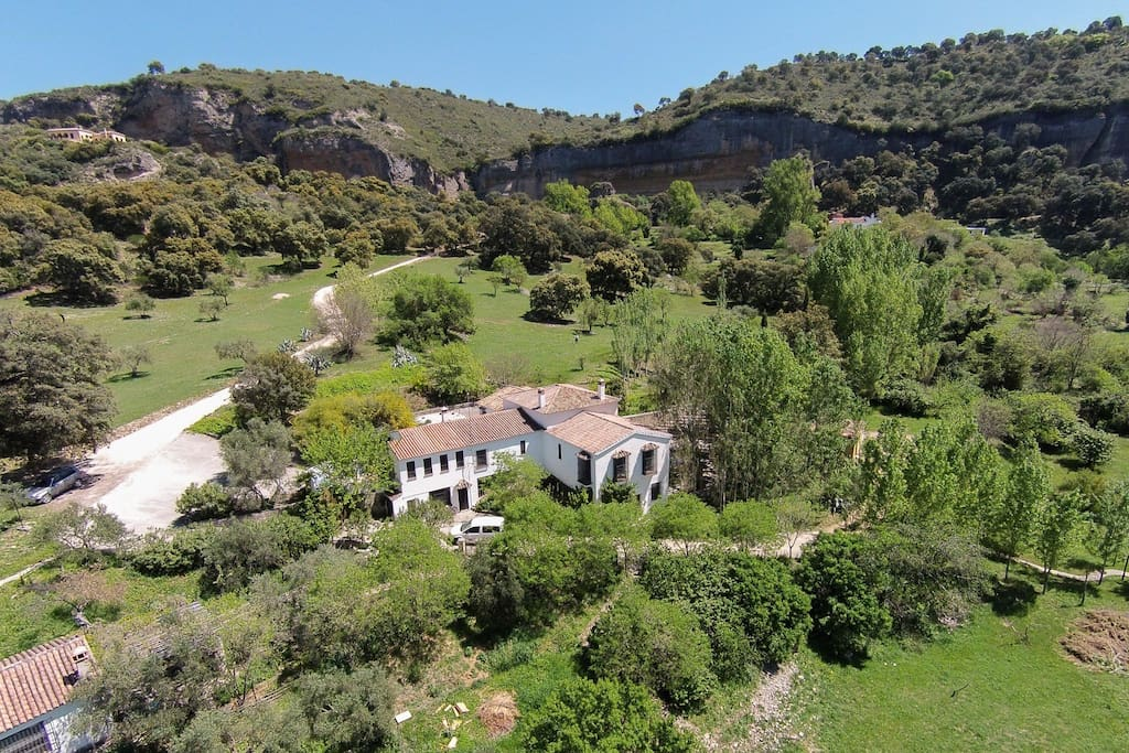 Idyllic, stylish, thirteen acre luxury villa rental for large groups set in a breathtaking valley, only minutes from Ronda, Andalucia.