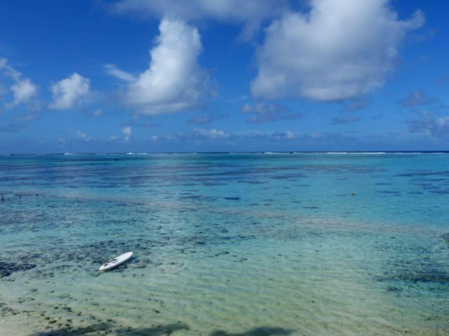 La vue sur le lagon