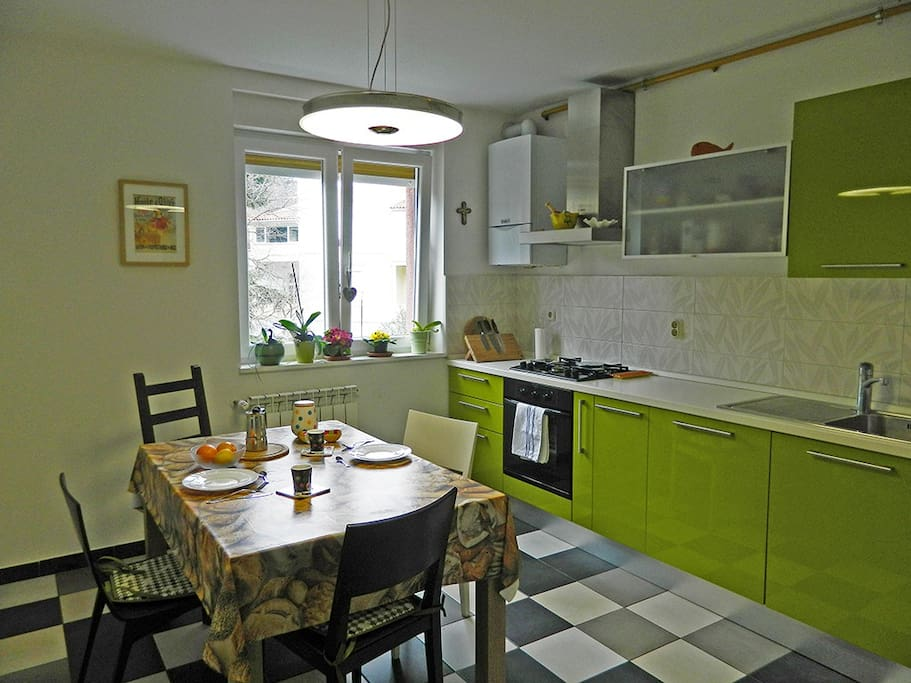 Fully equipped kitchen where you can prepare a snack or dinner
