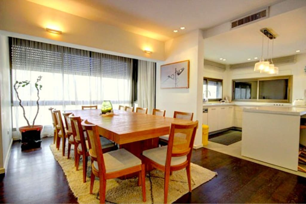 Very large dining area