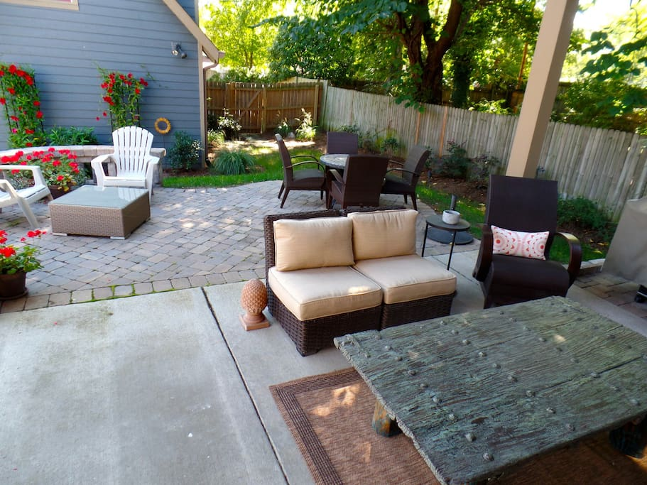 Guests have shared access to a wonderful outdoor living space