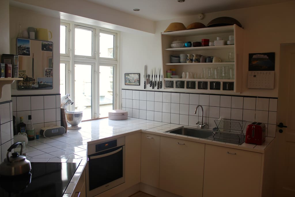 Fully equiped kitchen; dishwasher and all kinds of pots, pans and cutlery