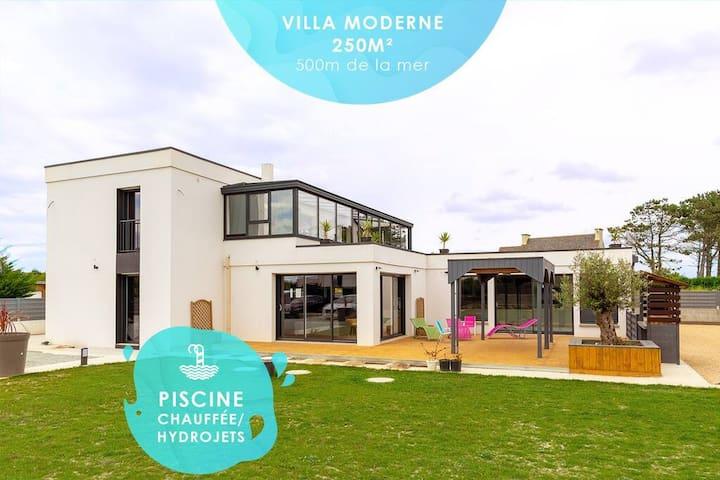 La Villa des Amiets: 250m2, piscine, plage a 500m