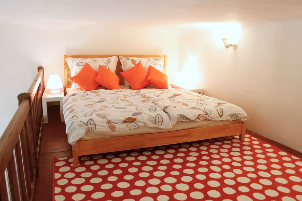 Second double bed at the maisonette sleeping floor.