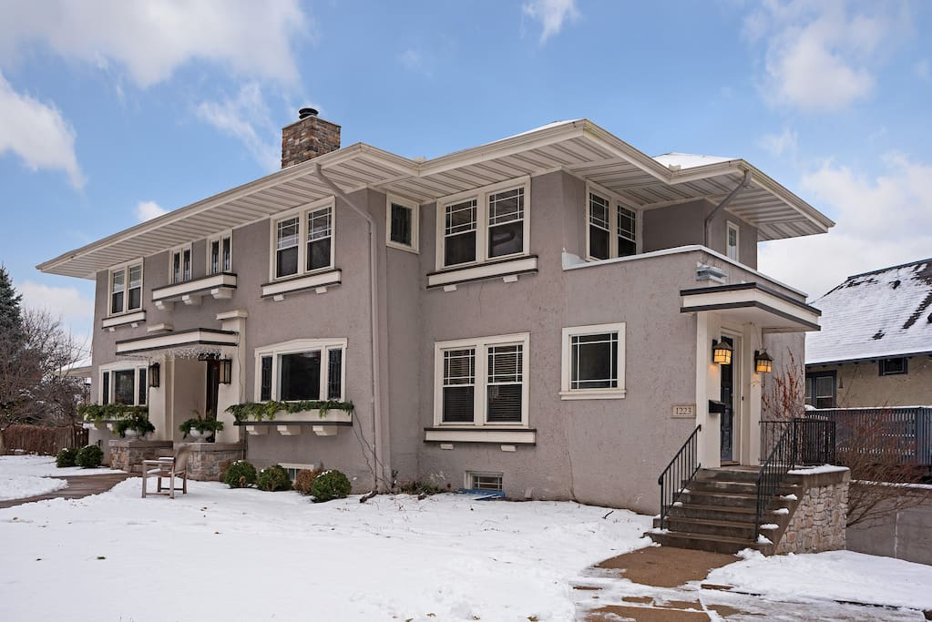 Historic duplex home close to downtown.  Your private entrance is on the right.