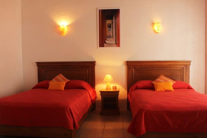 Habitaciones cuádruples en Hotel Casa del Río