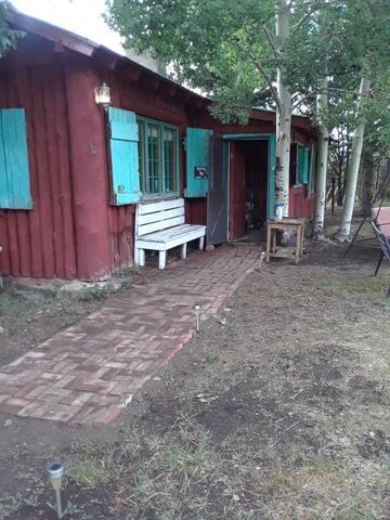 Front door and mud room.