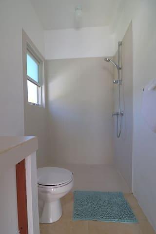 On suite bathroom area