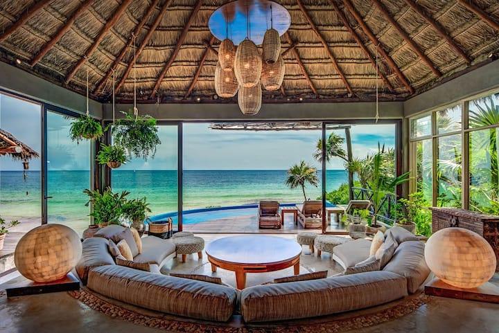 Ocean Front Tulum Villa -  5 bedrooms!