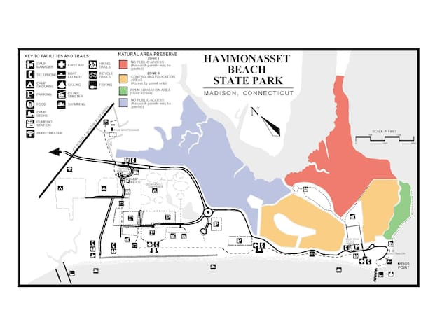 This is a map of Hammonasset Beach.  Fun place to visit 20 mins from our house.