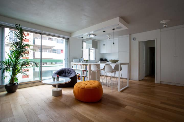 Bright modern apartment Jourdain / Buttes Chaumont